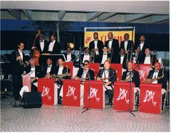 SF ALL STAR BIG BAND W/FRANK FISHER IN TRUMPET SECTION(2ND FROM RIGHT IN TRPT. SECTION).