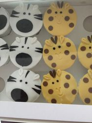Zebra & Giraffe Cupcakes