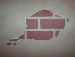 faux brick