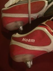 Julian Fauberts worn and personalised (Noam is his son) boots