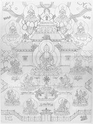 Sukhavati Pure Land Line Drawing