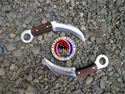 Custom Made Spring Steel Twin Karambit with Scaler