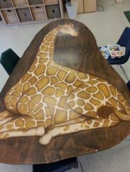 Finished 8' Long Giraffe Table