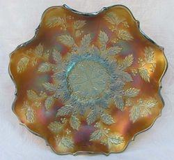 Holly ruffled bowl, aqua