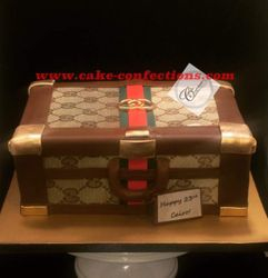 Gucci Themed Luggage Cake