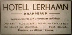 Hotell Lerhamn 1946