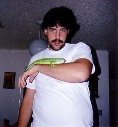 Robert Copp with Lizard