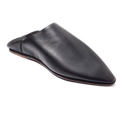 Thaqafah Moroccan shoes Black babouche