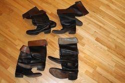 Odiniai sokeju batai. Kaina po 26 Eur.