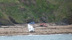 Yacht aground in Crownhill Bay