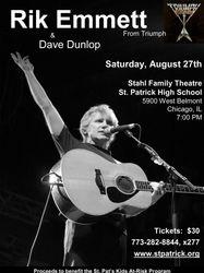 Rik Emmett concert flyer Hi Res