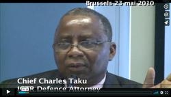 Chief Charles Taku speaking on 23 May 2010