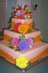 Autumn Dahlia Cake