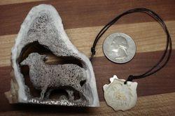 """Sheel and 'Guradian Sheep"""" carving"""