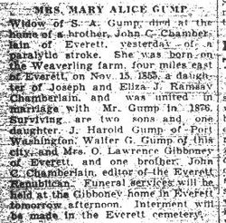 Gump, Mary Alice Chamberlain 1931