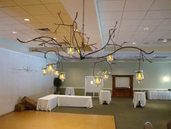 Metal Branch Chandelier