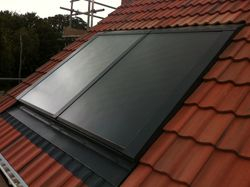 Completed solar thermal installation in Spalding