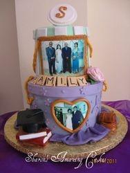 CAKE 36A2 -Hat Box cake