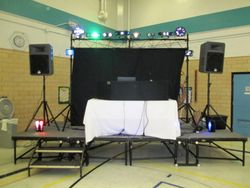 light and stage set up