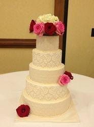 Ivory Damask Cake