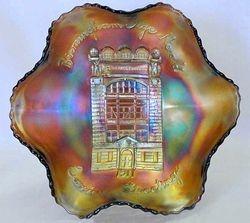 FENTON, Birmingham Age Herald 1911 ruffled bowl - amethyst