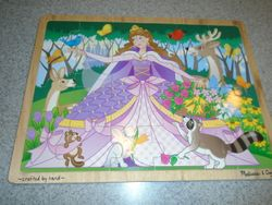 Melissa & Doug Woodland Fairy Princess Wooden Jigsaw Puzzle- 24 pcs - $9