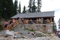 Lake Agnes teahouse at Lake Louise