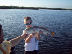 Jacob with a 25 1/2 redfish