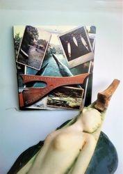 Knjiga Dajak camac simbol Vrbasa i Banjaluke autora Vojislava Alvira i skulptura Djevojka na dajak camcu akademskog slikara keramicara Sonje Bikic