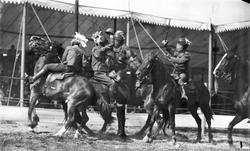 Japanese sword fighters Buffalo Bill Show
