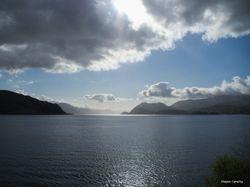 Utsikt inn fjorden mot Nordfjordeid