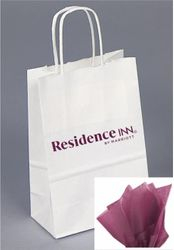 Gift Bags with Rope Handle - New reflective foil-stamped Residence Inn logo that really stands out from the crowd! - INCLUDES tissue paper with every gift bag