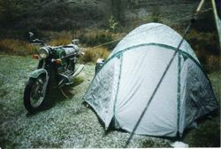 1998 Early on Monday morning. Packed tent up dry at 11am