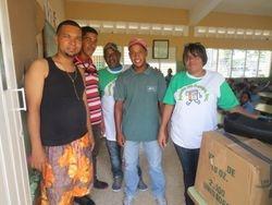Voluntarios en la Entrega en La Vega