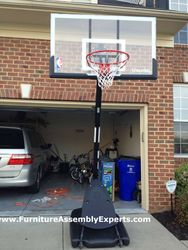 lifetime portable basketball hoop assembly service in germantown MD