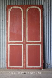 #27/001 PAIR OF FRENCH RED DOORS