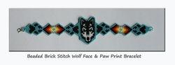 Brick Stitch Wolf Bracelet - SOLD