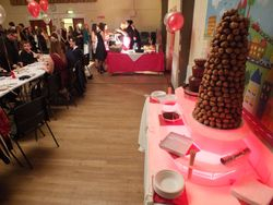 Christmas Party, profiterole mountain chocolate fountain hire, Also catering christmas dinner.
