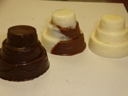 cake shaped chocolate party favors