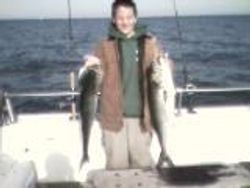 Aaron with bluefish - 2007