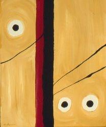 Black & Tan #21, Acrylic, 16 x 20, Original Sold