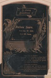 Nathan Snare Funeral Card