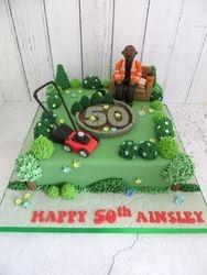 Gardening themed 50th Birthday Cake