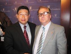 Dr. Yang Jianli and Mustafa Xhepa