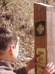 Sign Postings Along the Trail