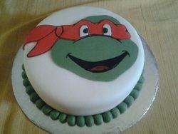 Ninja Turtle Face Cake