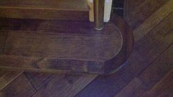 Hand Made Rounded Hardwood Stair