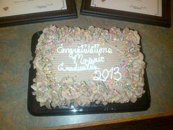 Summer 2013 Graduation cake from Renee