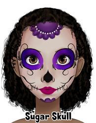 Purple Sugar Skull Design