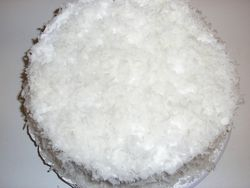 Butter Coconut Cake with coconut filling